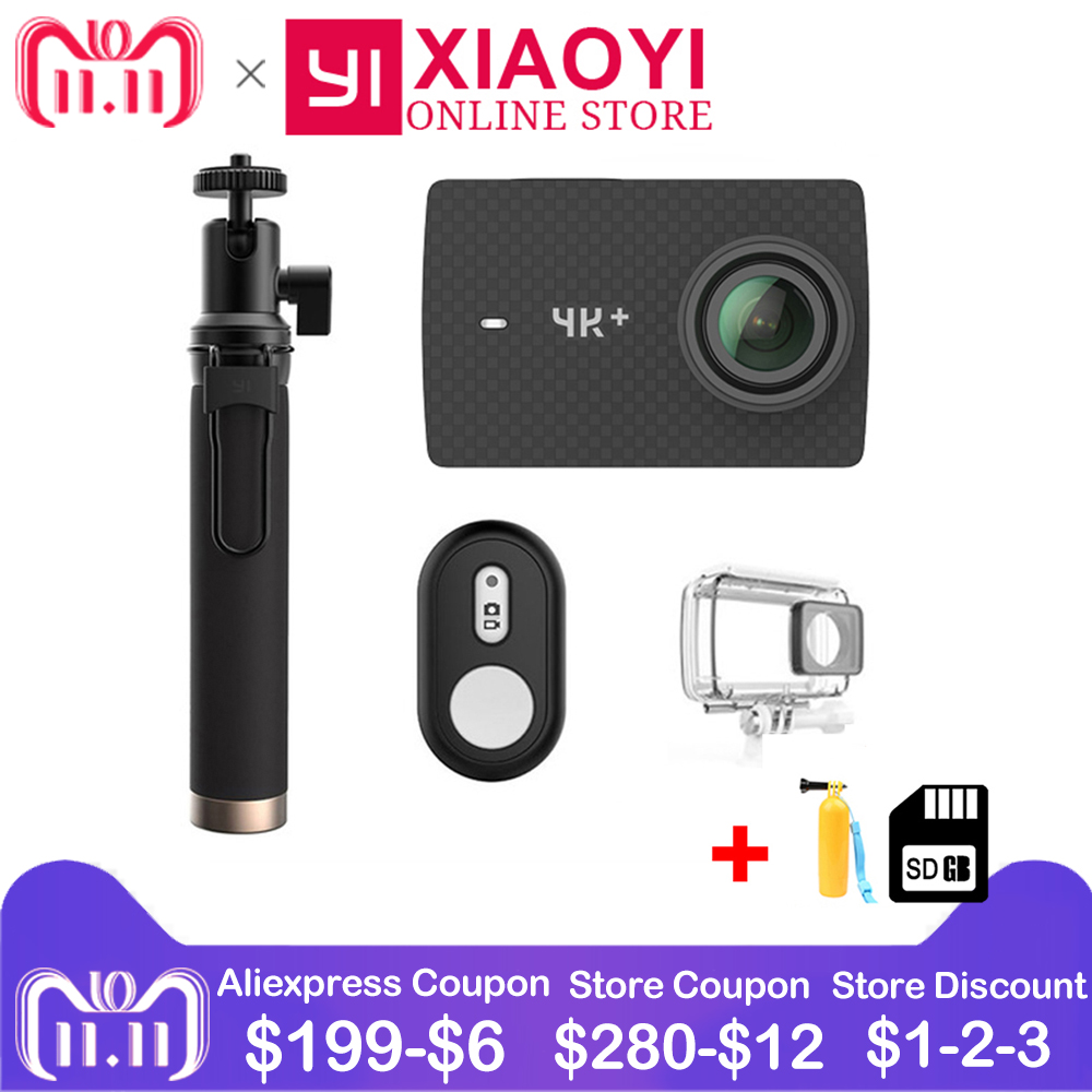 Xiaomi YI 4K+ Action Camera Amba H2 SOC Cortex-A53 4K/60fps 12MP 2.19 RAW 155 Degree 4K+(Plus) Action Cam Sport Camera водонепроницаемый чехол для mi action camera 4k