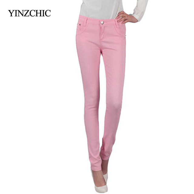 Women candy pants New ladies pencil trousers Girls pure color ankle-length pants Plus size girl pants