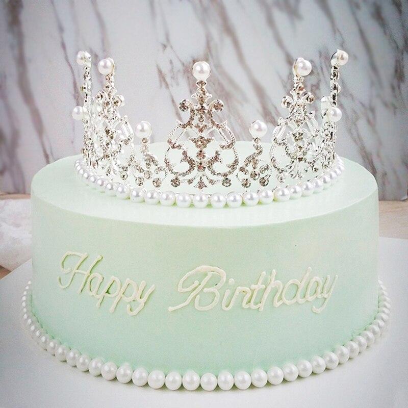 Us 557 29 Offkristall Diamanten Perle Crown Kuchen Topper Hochzeit Taufe Taufe Geburtstag Kuchen Dekorieren Werkzeuge Kuchen Dekoration Liefert In