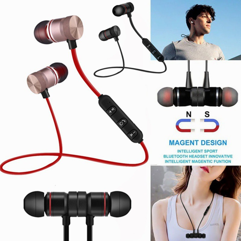 Wireless Sport Bluetooth Earphones Stereo Music Earphone For IPhone Samsung Magnetic Headset Earphone With Microphone
