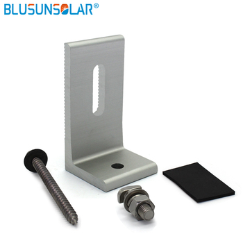 50sets/lot hot selling L-type 100% Aluminum Solar Panel Roof Mounting Bracket Solar Stand for Carvan Roof -FL0108