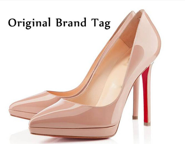 quality design d3e6b 83023 US $67.78 |2014 Famous Brand High Heel.Big Size 42 Women Sexy Shoe.Ladies  Shoes.Women Red Bottom High Heels.PU Neon Nude Pumps.Pigalle Heel di Wanita  ...