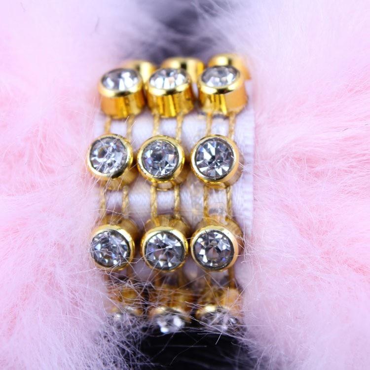 3 pcs Baru Lahir Kristal Batu Bando Busur Besar Bulu Kelinci Bando - Aksesori pakaian - Foto 5