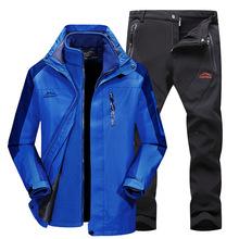 Grube męskie zimowe wodoodporne spodnie i kurtki damskie kombinezony narciarskie kombinezon snowboardowy sportowe damskie śnieg zestaw odzieży sportowej tanie tanio sceamout Oxford Pasuje prawda na wymiar weź swój normalny rozmiar Snowboarding Set