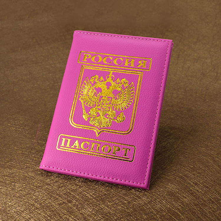 New Cute Women Russian Passport Cover Pink Travel Covers on The Passport Holder Brand Girls Travel PU Leather Passports Case 1pc high quality pu leather russian driver s license cover for car driving documents the cover of the passport bih002 pr49