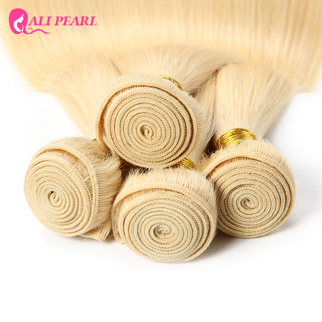 Ali Pearl Hair 1 bundle sale Bleached 613 Blonde Hair Bundles 10-24 Inches Remy Hair 3