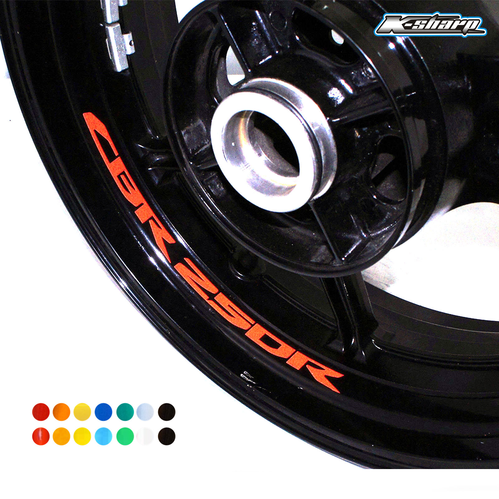 For HONDA CBR250R Custom Inner Rim Declas Wheel Reflective  Fishbone Stickers Stripes  CBR 250R