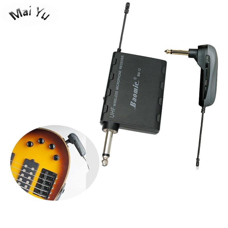 Instrument professionnel sans fil guitare électrique Microphone condensateur mélangeur de musique haut-parleur Microfone avec émetteur Max 40 m