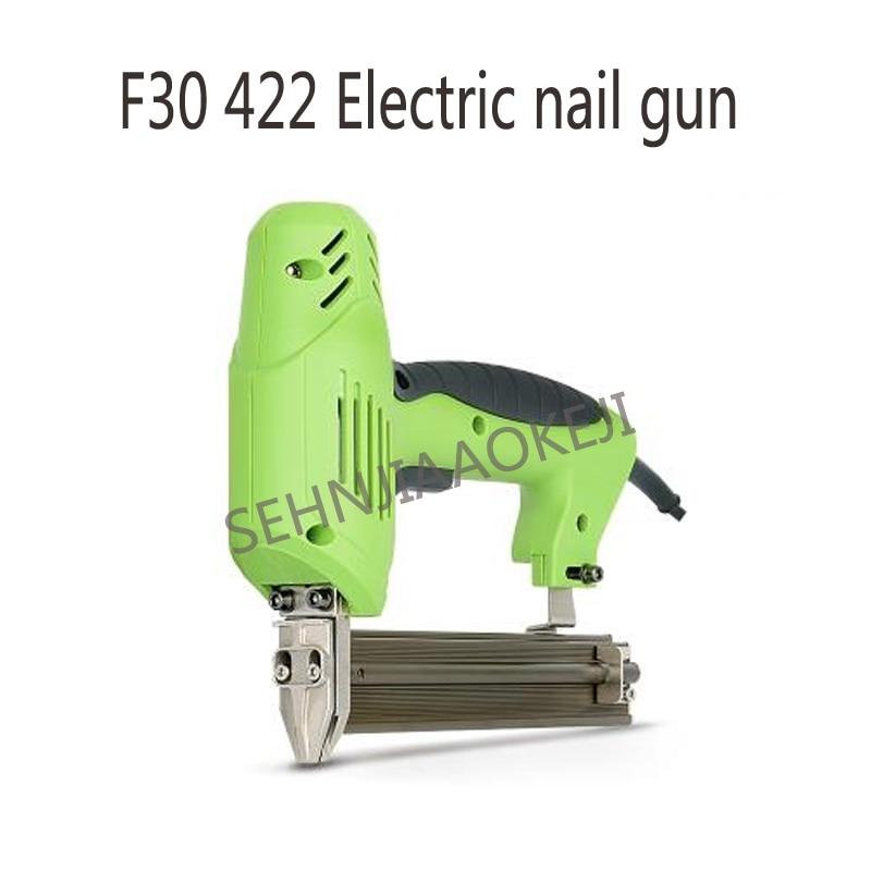 Aletler'ten Makine Merkezi'de F30422 Elektrikli çivi tabancası çift amaçlı çivi tabancası Elektrikli çerçeveleme zımba düz çivi tabancası Tırnak marangozluk aracı 220 V 2000 W title=