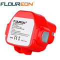 FLOUREON 12V 3000mAh Ni-MH Replacement Power Tool Battery Rechargeable Battery Pack for MAKITA 1050D 1050DRA 1050DWD 4191D