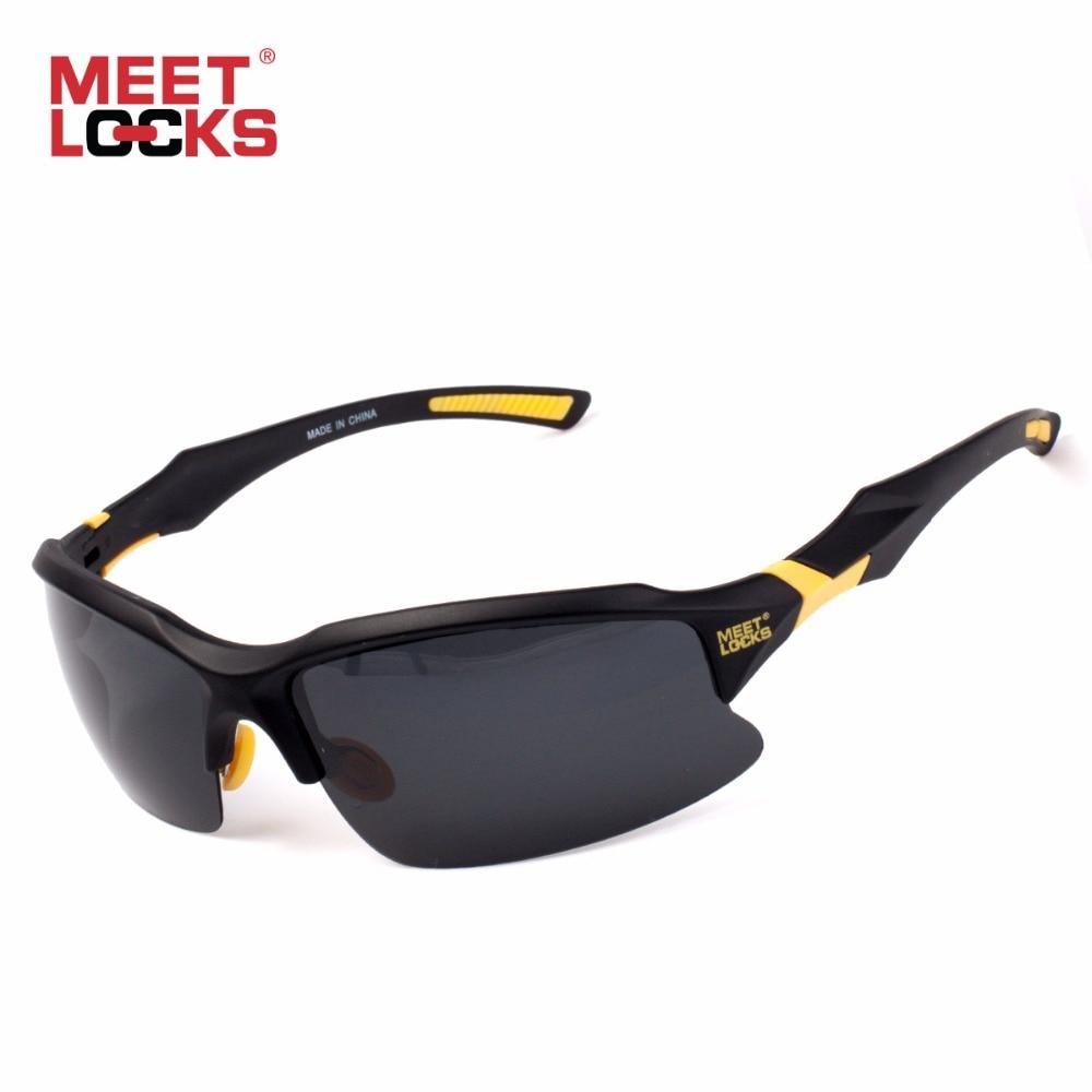 Prix pour MEETLOCKS Vélo Vélo Lunettes De Sport lunettes de Soleil UV 400 Verres Polarisés pour la Pêche Golf Driving de Course Lunettes avec le cas