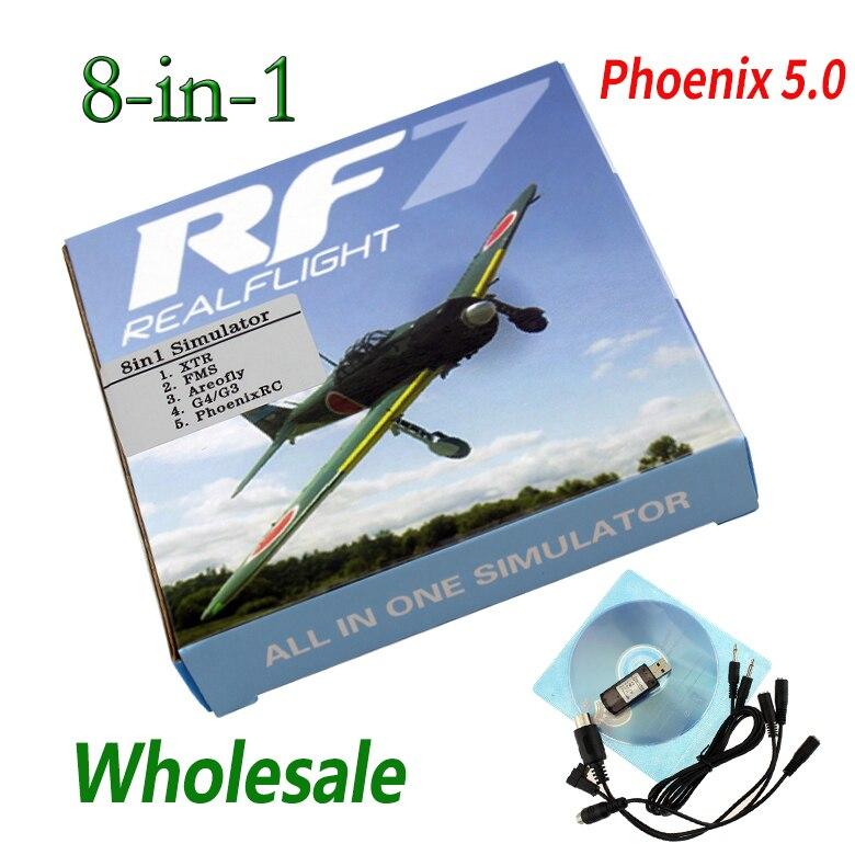 RC simulador de vuelo de 8 en 1 de Cable USB para XTR Phoenix 5,0 Realflight G4 FMS XTR apoyo de actualización en línea