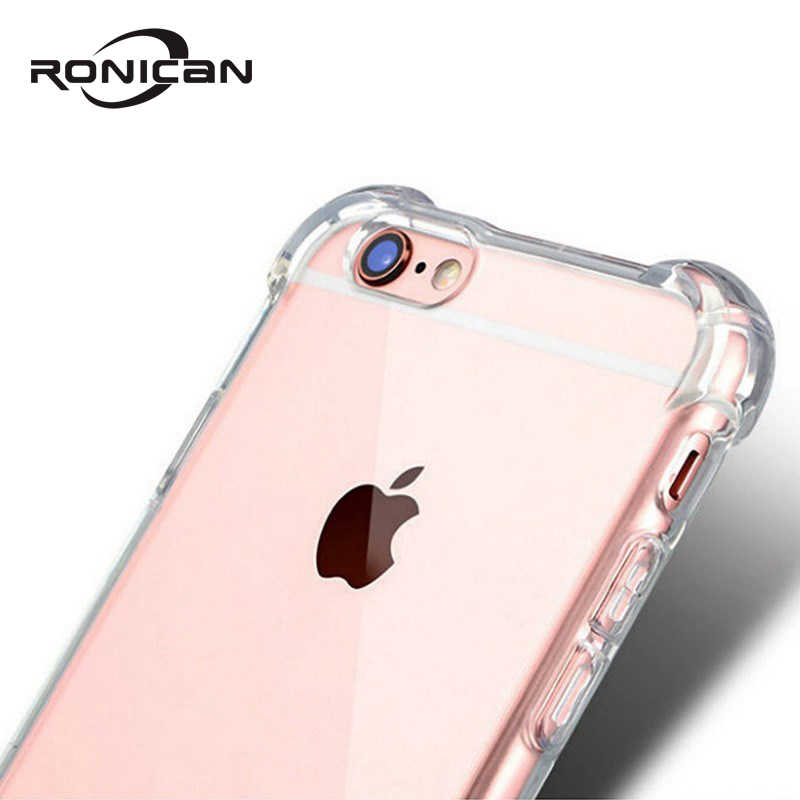 Portefeuillesubsidies Case Cover Voor iPhone XR XS Max 6 7 8 Plus 5 5S SE Transparante Beschermende Shell Shockproof zachte TPU Siliconen Coque