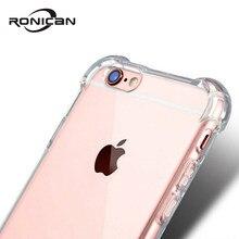 Capa protetora transparente para iphone xr xs max, 6 7, 8 plus, 5, 5S se, proteção macia e à prova de choque capa de silicone tpu