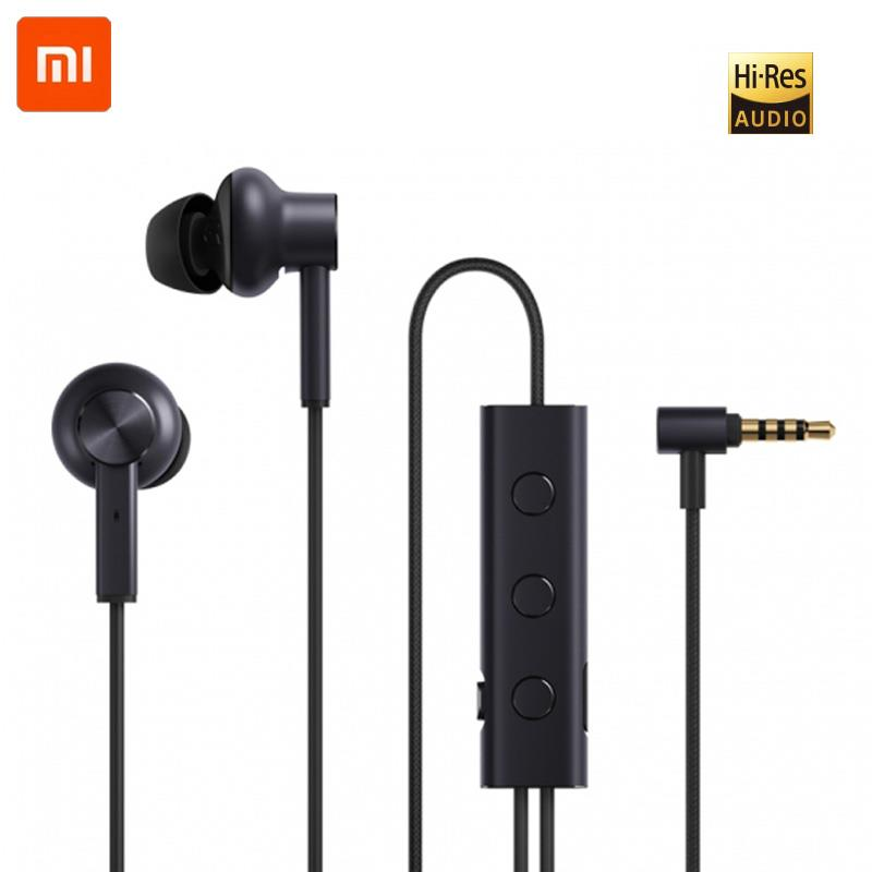 Xiaomi ANC Earphone Active Noise Cancelling Earphone 3.5mm jack Interface In-Ear Mic Line Control for Xiaomi A1 Redmi 4X moxpad x3 in ear earphone w mic for iphone htc more black 3 5mm jack 135cm