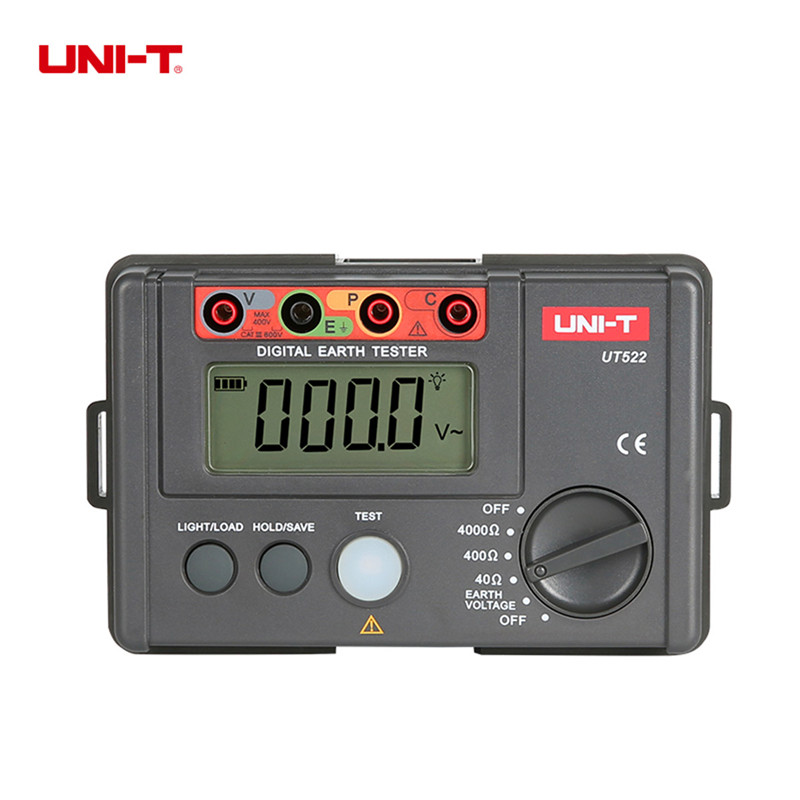 цены UNI-T Resistance Meter UT522 megger insulation tester 0-400V 0-4000ohm Earth Ground Resistance Tester Lightning Detector