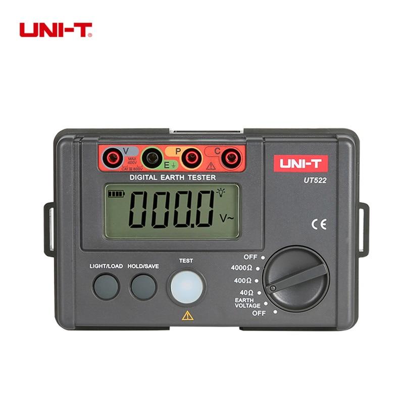 цены UNI-T Resistance Meter UT522 megger insulation tester 0-400V 0-4000ohm Earth Ground Resistance Tester Lightning Detector