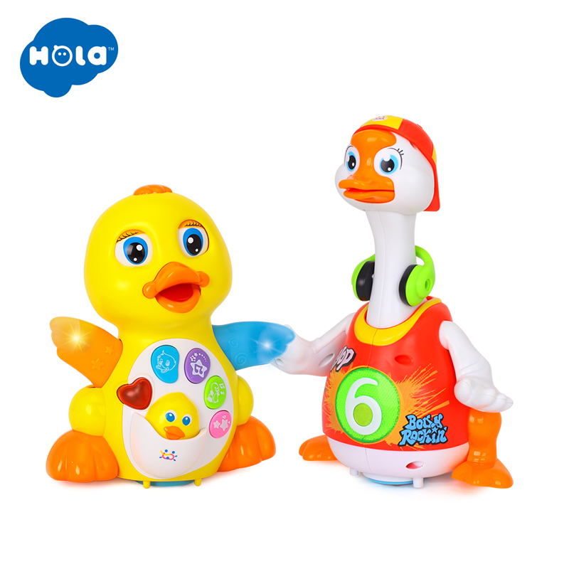 HOLA 808 & 828 Dancing Duck With Light/Music/Electric Universal & Swing Goose With Light/Music(3 Colors Assorted)