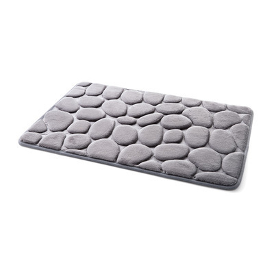 Coral Fleece Bathroom Memory Foam Rug Kit Toilet Pattern Bath Non-slip Mats Floor Carpet Set Mattress for Bathroom Decor