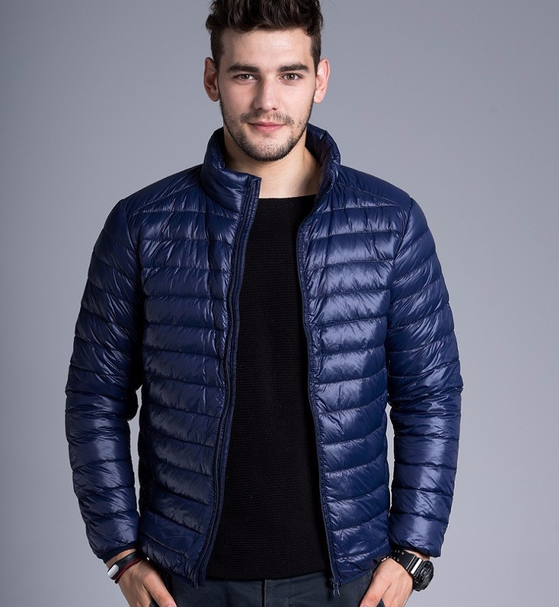 Men casual warm Jackets solid thin breathable Winter Jacket Mens outwear Coat Lightweight parka Plus size XXXL hombre jaqueta 10