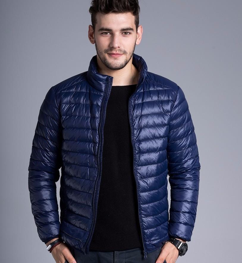 Men casual warm Jackets solid thin breathable Winter Jacket Mens outwear Coat Lightweight parka Plus size XXXL hombre jaqueta 10