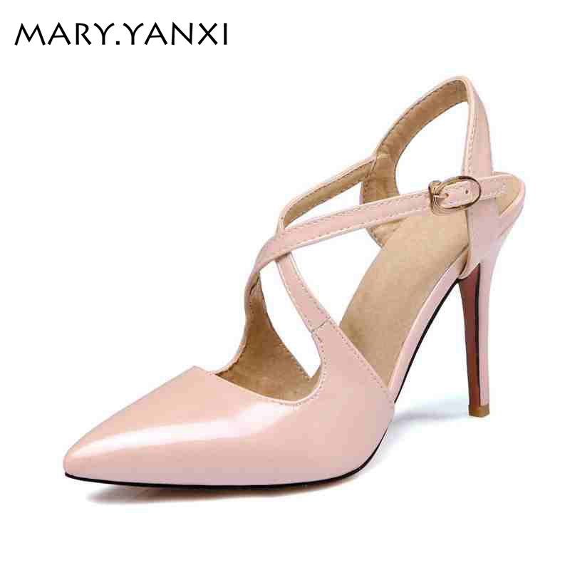 Mature Office Lady work pumps High thin heels Pointed Toe Party pumps Buckle Strap Spring/Autumn Gladiator women shoes pumps high thin heels women shoes pointed toe buckle strap party pumps spring autumn elegant mature pumps shallow mouth women pumps