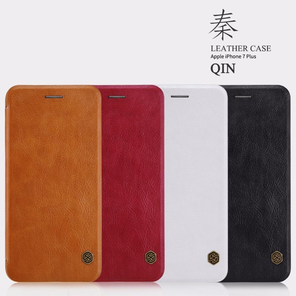 Original Nillkin Qin-serien Mobiltelefonläderfodral för iPhone 7 - Reservdelar och tillbehör för mobiltelefoner