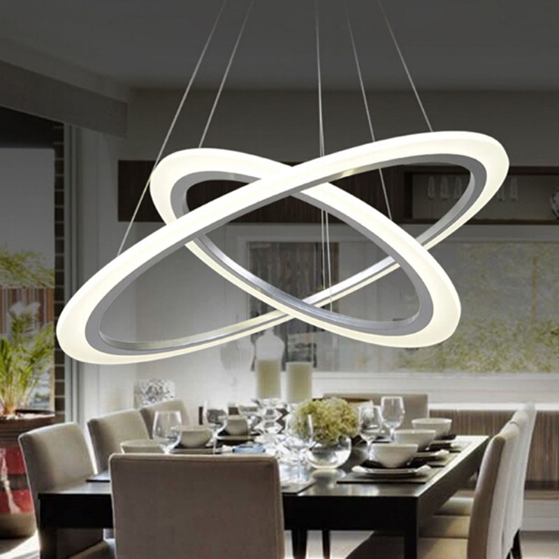 New Modern pendant lights for living room dining room bed room 3/2/1 Circle Rings acrylic LED Lighting ceiling Lamp fixtures dragonscence new modern led chandelier lights for living room dining room 4 3 2 1 circle rings acrylic ceiling lamp fixtures