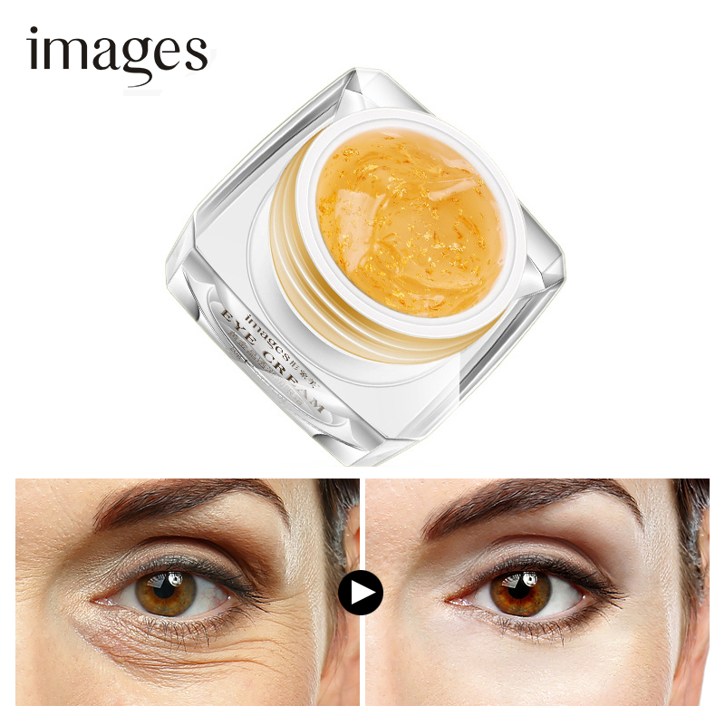 IMAGES Golden eye cream Anti-Puffiness Remove Wrinkles Dark Circle  Hyaluronic Acid Eye Patches Skin Care Moisturizing