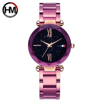 Hannah Martin Women Classic Watch with Stainless Steel Strap and scratch resistent sapphire crystal Dial