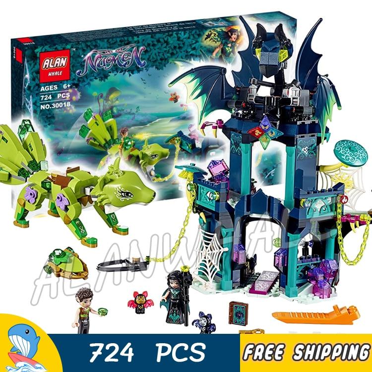 724pcs Elves Nocturas Tower & the Earth Fox Rescue 30018 Model Building Blocks Princess Kids Toys Bricks Compatible with Lego