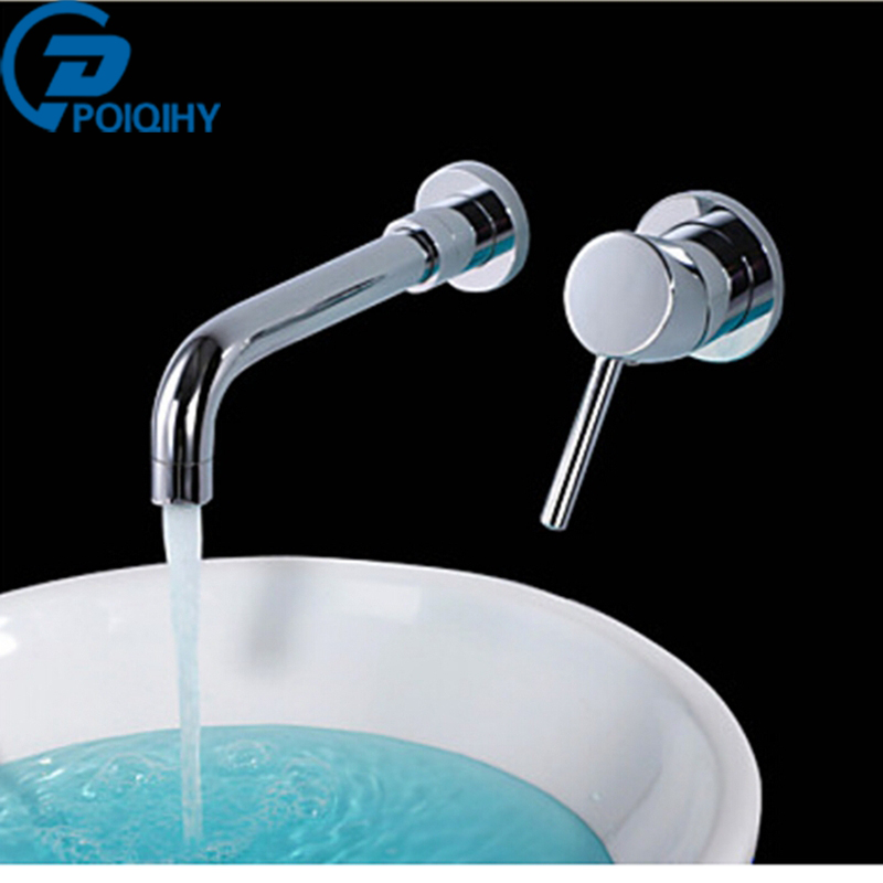 Basin Faucet Brass Wall Mounted Single Handle Bathroom Mixer Tap Hot Cold Sink Faucet Rotation Spout Oil Rubbed Brnze& Chrome frap new bathroom combination basin faucet shower tap single handle cold and hot water mixer with slide bar torneira f2823