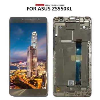 Para Asus Zenfone 3 Deluxe ZS550KL Z01FD, pantalla LCD, digitalizador táctil, conjunto del Sensor de pantalla + marco