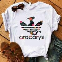 Dracarys Футболка Игра престолов мать драконов Khaleesi рубашка Дракон огонь Winterfell модная женская футболка получил фанатов подарок Тройник