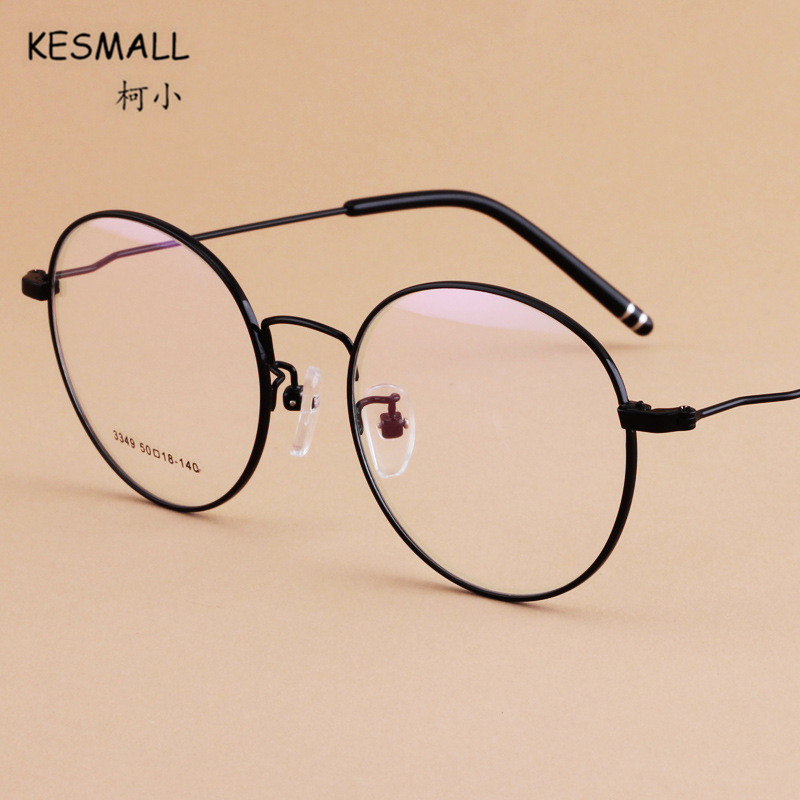KESMALL Prescription Glasses Women Men Gaming Frame With Myopia Lens Vintage Anti Blue Light Eyeglasses Gafas Graduadas XN324P
