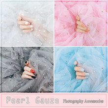 ins Photography Backdrop Accessories Pearl Gauze for Photo Studio Props Cosmetic Nail oil Phone Case Gift Background Decoration