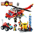 GUDI Fire Fighting Series Building Blocks Truck Compatible with Legoe Education Enlighten DIY Toys Gift for Children