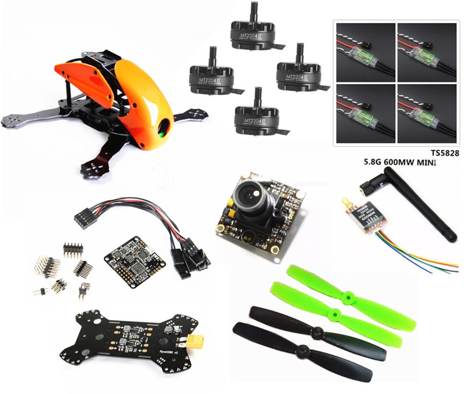 DIY FPV mini drone Robocat 270 quad Fiberglass / carbon frame kit NAZE32 10DOF+EMAX 2204II 2300KV + BL12A ESC oneshot125+ camera diy mini fpv 250 racing quadcopter carbon fiber frame run with 4s kit cc3d emax mt2204 ii 2300kv dragonfly 12a esc opto