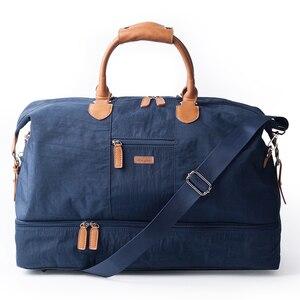 Image 2 - Mealivos Canvas Waterproof Travel Tote Duffel shoulder handbag Weekend Bag with Shoe Compartment