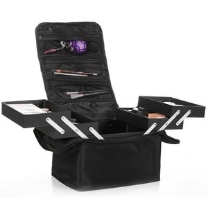 Image 1 - Estojo profissional multicamada ombro, maquiagem para unhas, ferramenta para armazenamento de cosméticos