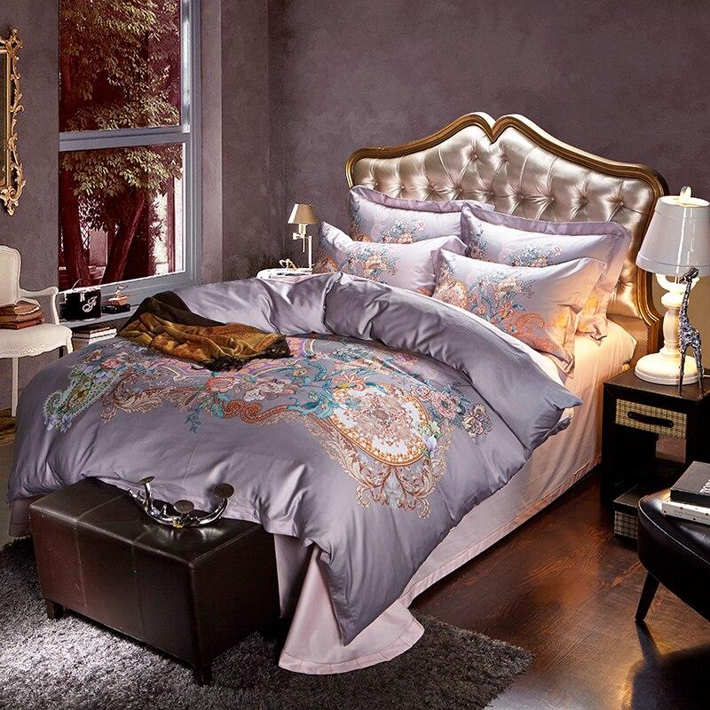 luxury bedding set winter floral duvet king size egyptian cotton bedding sets duvet - Bedspreads King Size