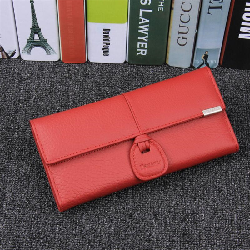 Classic Genuine Leather Women Wallet Female Long Clutch Lady Wallet Brand Money Bag Zipper Coin Purse Large Capacity Purse gzcz women wallet female long coin purse genuine leather clutch lady wallets luxury brand for money slim bags large capacity