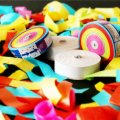 Free shipping 10pcs wedding activities party celebration hand throwing flowers ribbons multicolor magic show