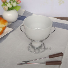 Керамический набор для шоколадного фондю нож для сыра грелка шоколадный горшок на металлической подставке шоколадный фондю инструменты для домашнего приготовления