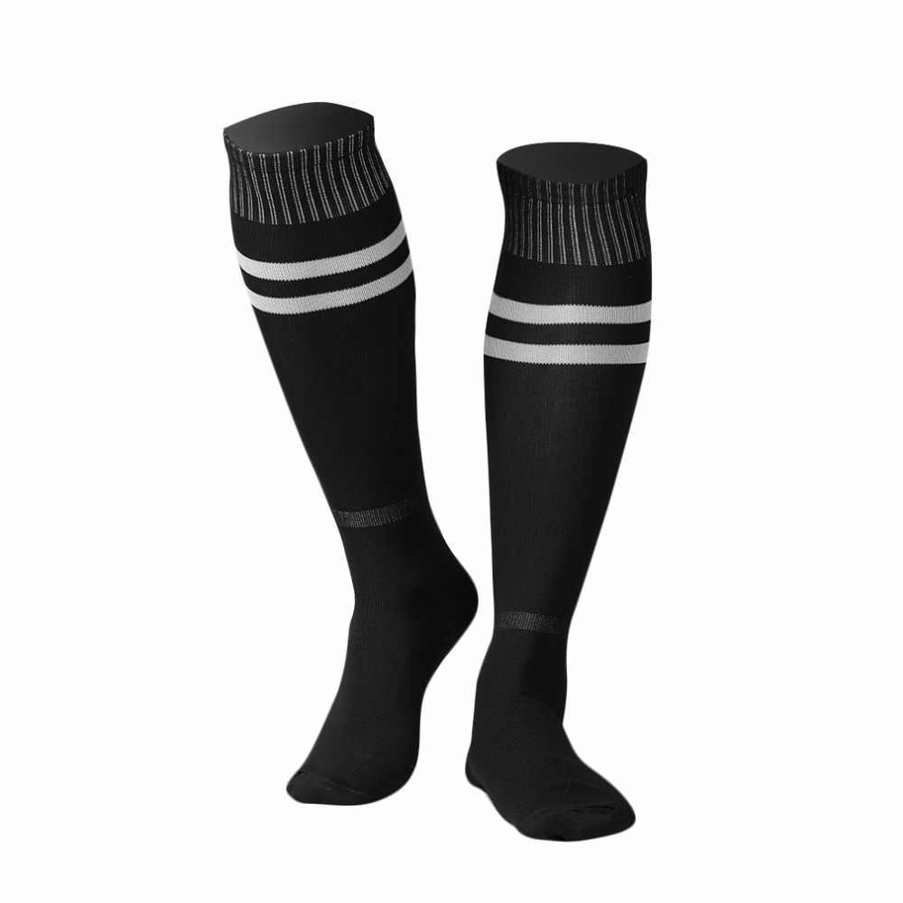 ... 1 пара 54 см эластичные спортивные Бейсбол Футбол полосатые носки  леггинсы до Колена Чулок футбол более ... 6b325a6453b