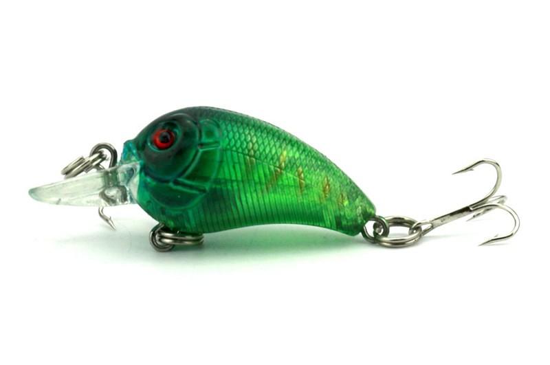 1x 4.5cm 4.2g Mini Fishing Lures Crank Baits 3d Fish Eye Simulation Minnow Crankbait Hard Plastic Laser Lure Bait Low Price (7)