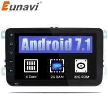 Eunavi Quad Core 2 din android 7.1 car radio For VW Skoda POLO GOLF 5 6 PASSAT CC JETTA TIGUAN TOURAN Fabia Caddy car gps stereo
