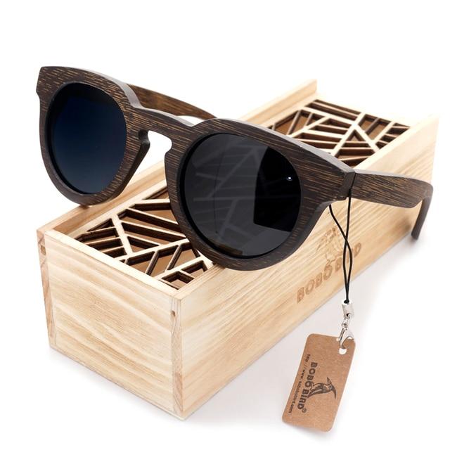 BOBO BIRD Bamboo Sunglasses Men Wooden Sunglasses Brand Designer Original Wood Polarized Sun Glasses Oculos De Sol Masculino