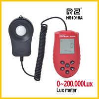 RZ offre spéciale 200,000 compteur de lumière numérique luxmètre Lux/FC mètres luminomètre photomètre compteur de lumière 3 gamme Lux NI5L HS1010A