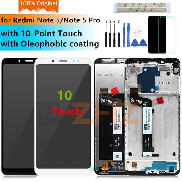 Original para xiaomi Redmi Note 5 Pro LCD pantalla digitalizador + marco 10 Touch para xiaomi pantalla Redmi Note 5 reemplazo reparar partes